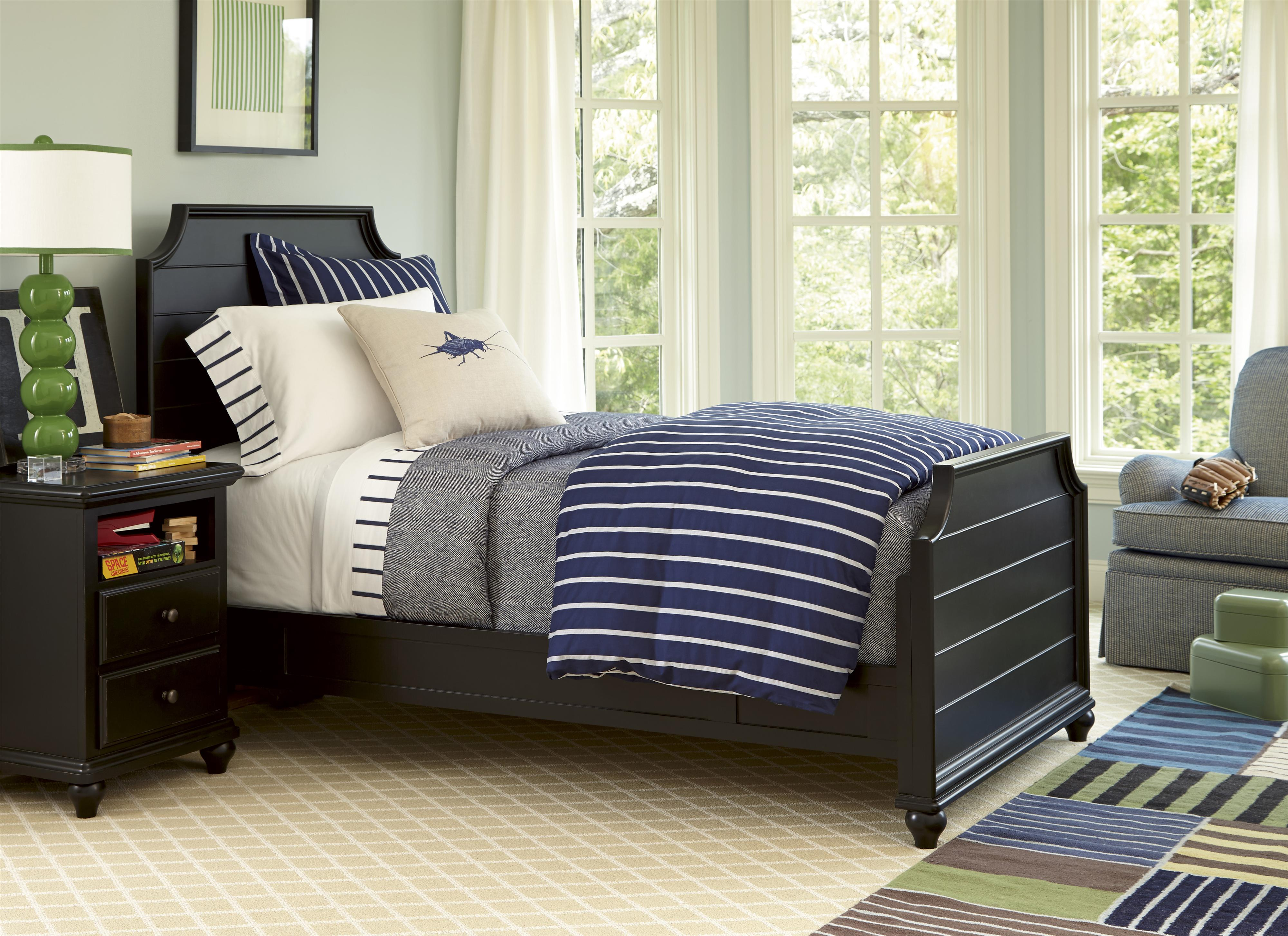 Smartstuff Black and White Twin Bedroom Group - Item Number: 437B T Bedroom Group 5