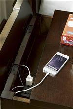 Nightstand Features Convenient Hidden Charging Station