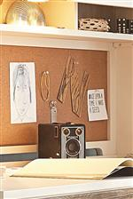 Corkboard Panel on Desk Hutch