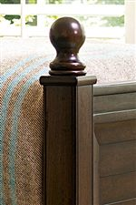 Round Finial on Select Bedposts
