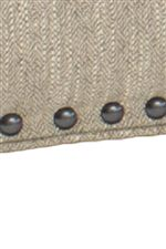 Nail head Trim is the Perfect Detail To Bring Out the Beautiful Leather and Fabric Colors