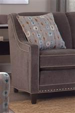 Track Arms and Nailhead Trim Create Classic and Updated Style