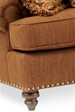 Decorative Nailhead Trim & Turned Legs