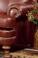 Rolled Arm Detail - Shown with Nailhead Trim