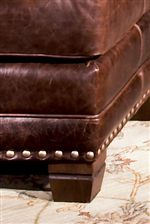 Tapered Wood Leg with Nailhead Base