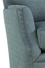 Straight Cushion Sock Arms with Nailhead Trim
