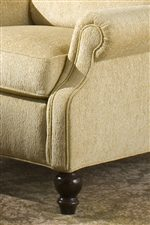 Welt Cord Trim and Turned Wooden Legs Give This Collection a Sophisticated Look