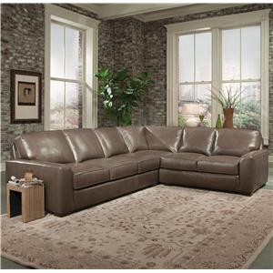 Smith Brothers Build Your Own (8000 Series) Contemporary Sofa with Track Arms