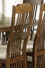 Long Curved Slats on Chair Back