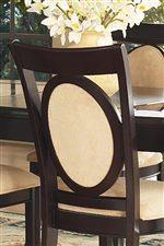 Upholstered Oval Back Inside Chair Frame