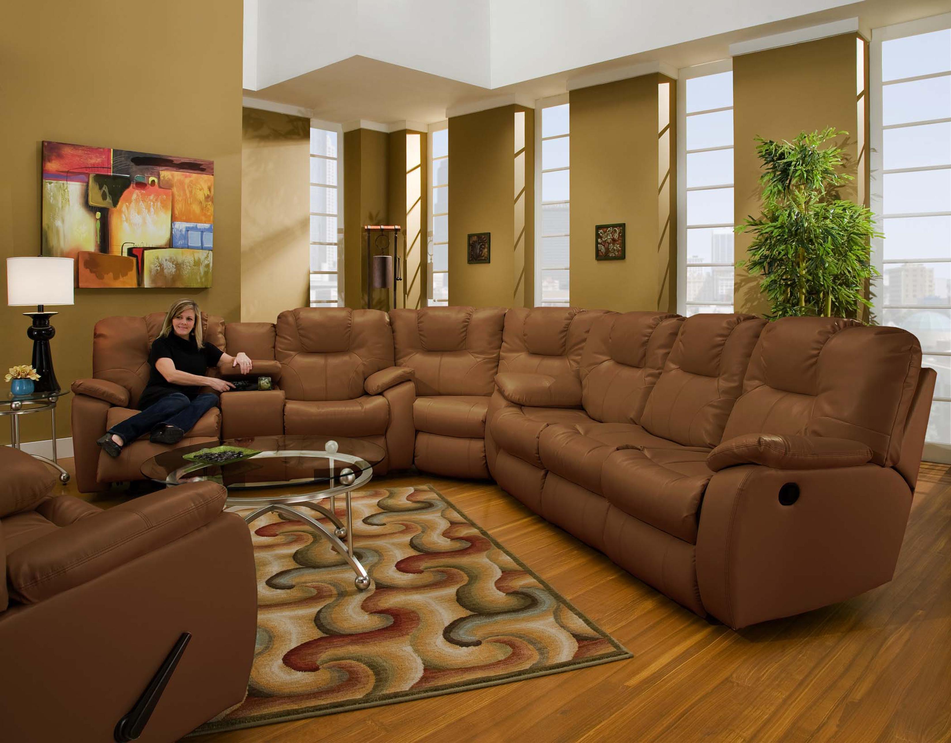 Southern Motion Avalon Three Piece Sectional Sofa Wayside