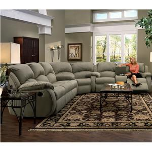 Design to Recline Cagney Powerized Double Reclining Loveseat with Pillow Arms