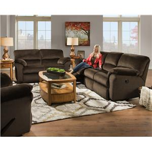 Design to Recline Cloud Nine Power Double Reclining Loveseat with Casual Style