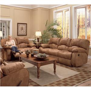 Design to Recline Hat Trick Triple Reclining Sofa