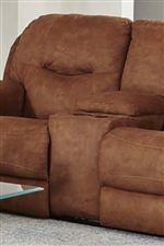 Built-In Cup-Holders in the Loveseat Provide Movie Theater Like Convenience