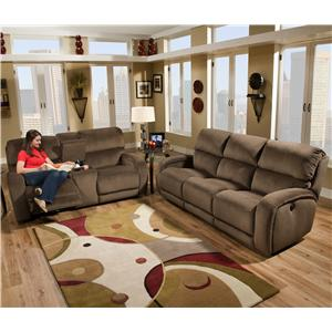 Design to Recline Fandango 884 Power Reclining Sofa with Casual Style for Family Rooms