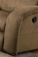 Smooth Upholstered Track Arms Provide Contemporary Style with Padded Armrests