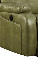 Smooth Upholstered Sides with Sleek Stitched Details Give a Contemporary Influence to the Space Where this Chair Sits