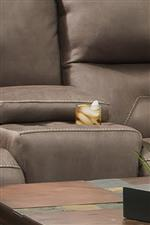 Center Consoles with Cup-Holders add Convenience to some of the Loveseats in this Collection