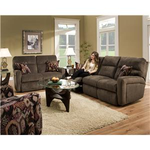 Southern Motion Savannah  Casual and Contemporary Family Room Rocker Recliner
