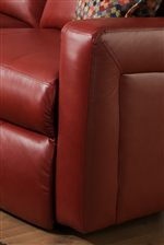 Smooth Track Arms Create Contemporary Style with a Soft Padded Comfort
