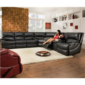 Belfort Motion Carson Power Reclining Sofa for Contemporary Family Rooms