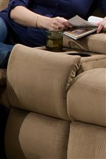 Cup-Holders in the Console Sofa Give this Collection an Element of Convenience that is Great for Entertaining
