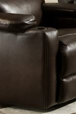 Each Recliner has a Cup Holder Built into the Ends of Each of its Arms for a Feeling of Movie Theater Luxury