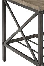 Round Tubular Metal Crossed Side Panels