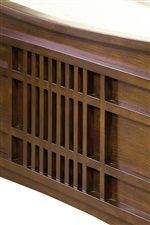 Slat Detail Used on Headboard and Footboard That Adds Unique Sophistication