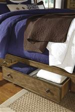 Side storage on select pieces