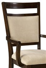 Front of Dining Chair with Upholstered Seat and Back