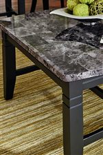 Gray Faux-Marble Tops and Tapered Legs with Simple Molding