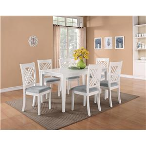 Standard Furniture Brooklyn 5 Piece Counter Height Dining Table Set with X-Back Chairs