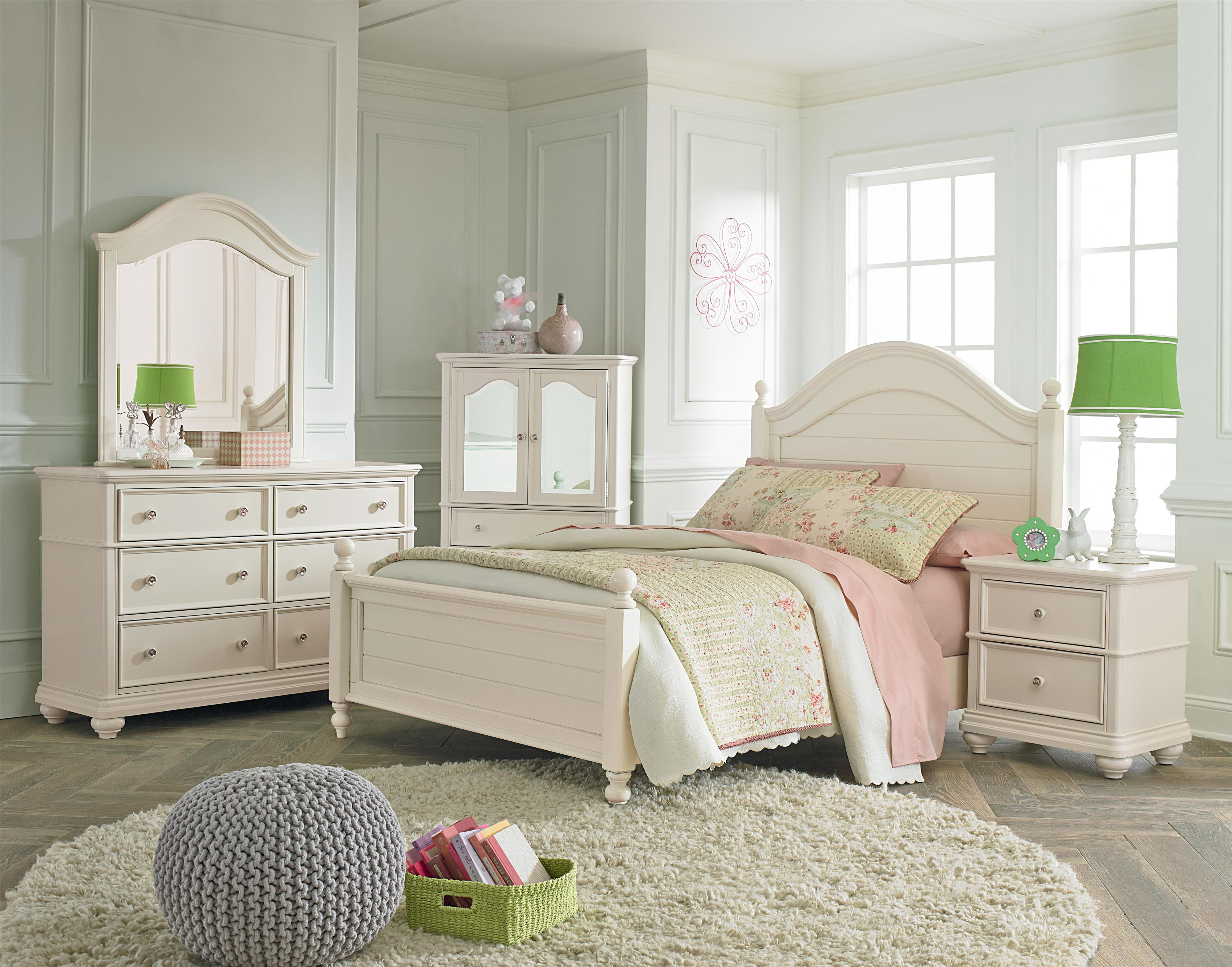 Standard Furniture Camellia Marshmallow Twin Bedroom Group - Item Number: 95200 T Bedroom Group 1
