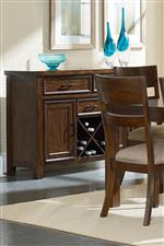 Wide Slat Back Chair and X-Wine Rack for Bottle Storage
