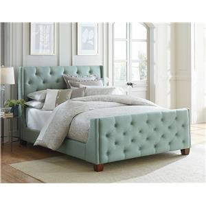 Standard Furniture Carmen Blue Upholstered Daybed with Button Tufting