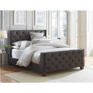 Standard Furniture Carmen Earth King Upholstered Headboard and Footboard