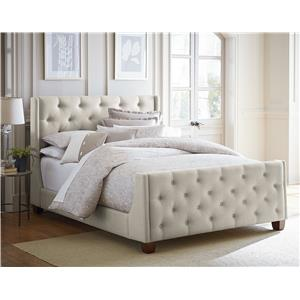 Standard Furniture Carmen Grey Queen Upholstered Headboard and Footboard