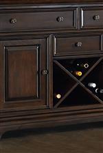 X-Shaped Wine Rack Storage