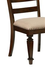 Upholstered Chairs and Traditionally Designed Square Turned Feet
