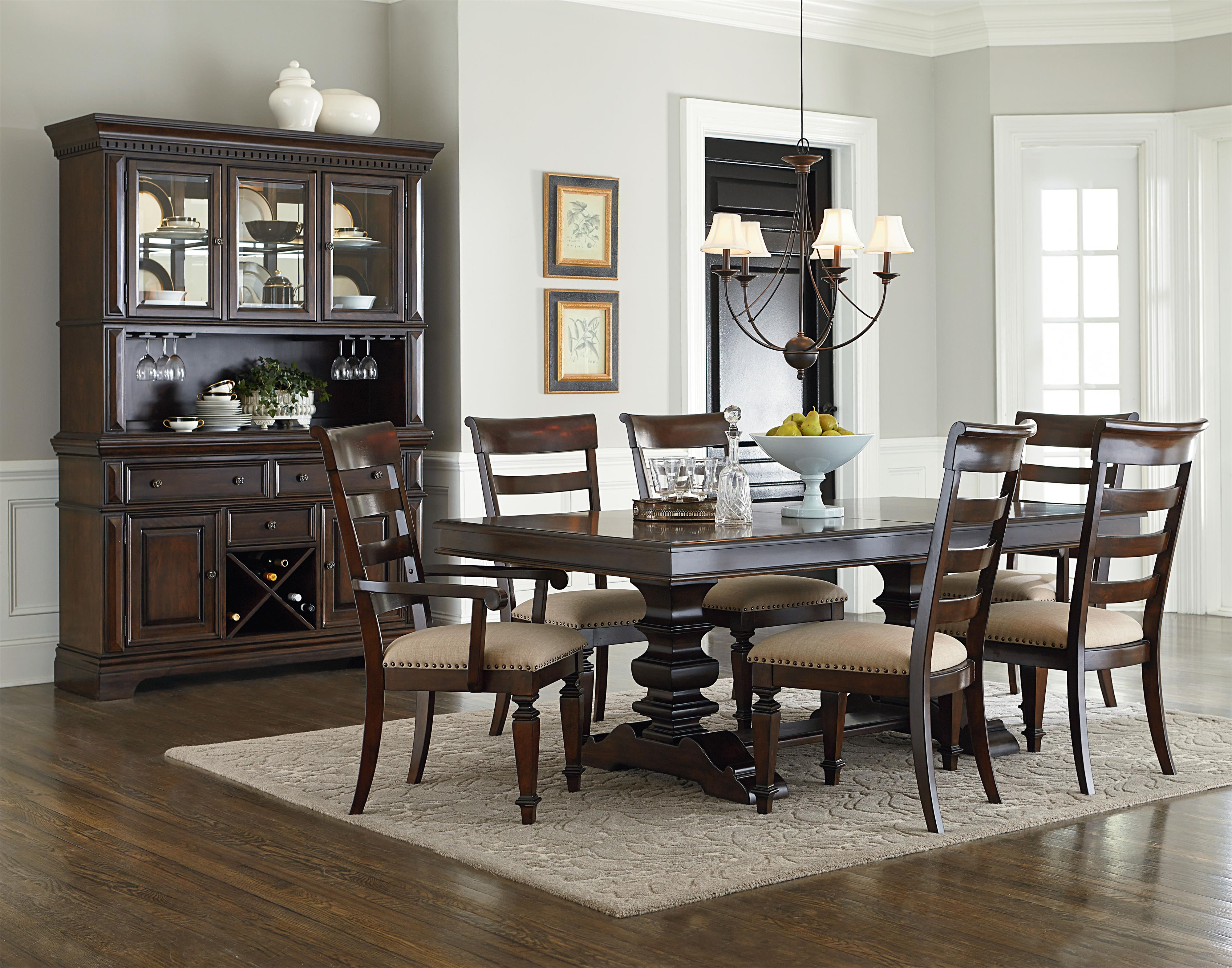 Formal dining room tables and chairs - Standard Furniture Charleston Trestle Dining Table With 18 Leaf Wayside Furniture Dining Room Table