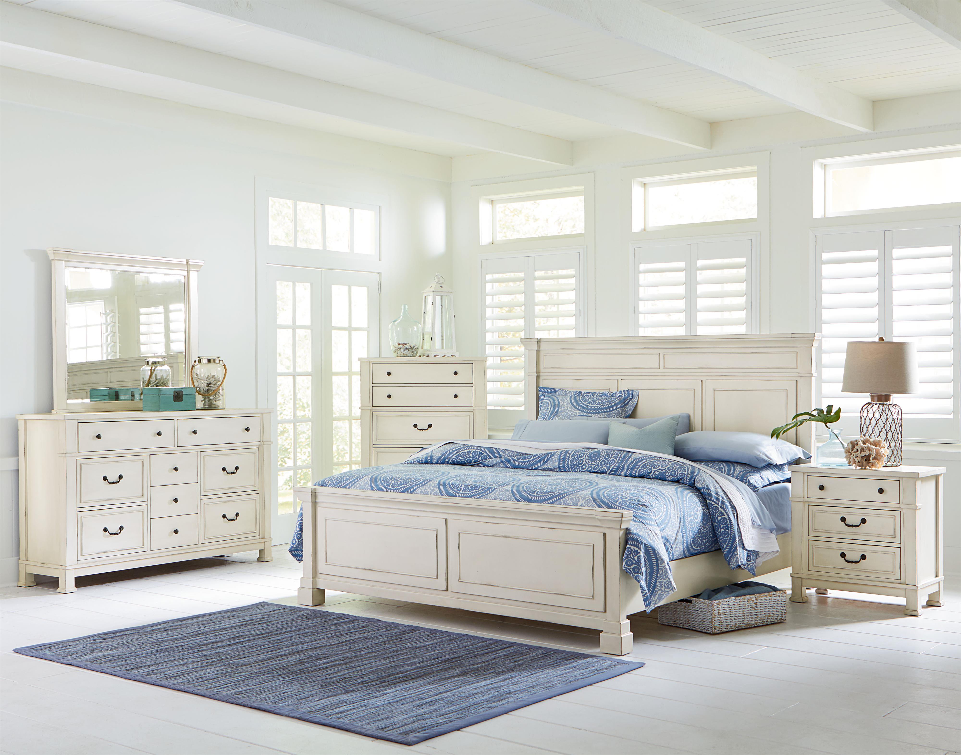 Standard Furniture Chesapeake Bay Vintage White Dresser And Mirror Set    Wayside Furniture   Dresser U0026 Mirror Sets