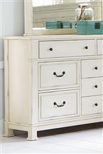 Square Legs with Block Feet and Raised Bead Drawer Fronts