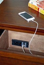 Convenient USB Port Hidden Inside Night Stand