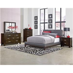 Standard Furniture Couture Grey Queen Upholstered Bed