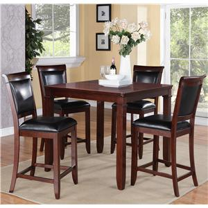 Standard Furniture Dallas  5 Piece Dining Table and Upholstered Chairs Set