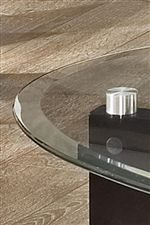 Tempered Glass Top with Beveled Edges