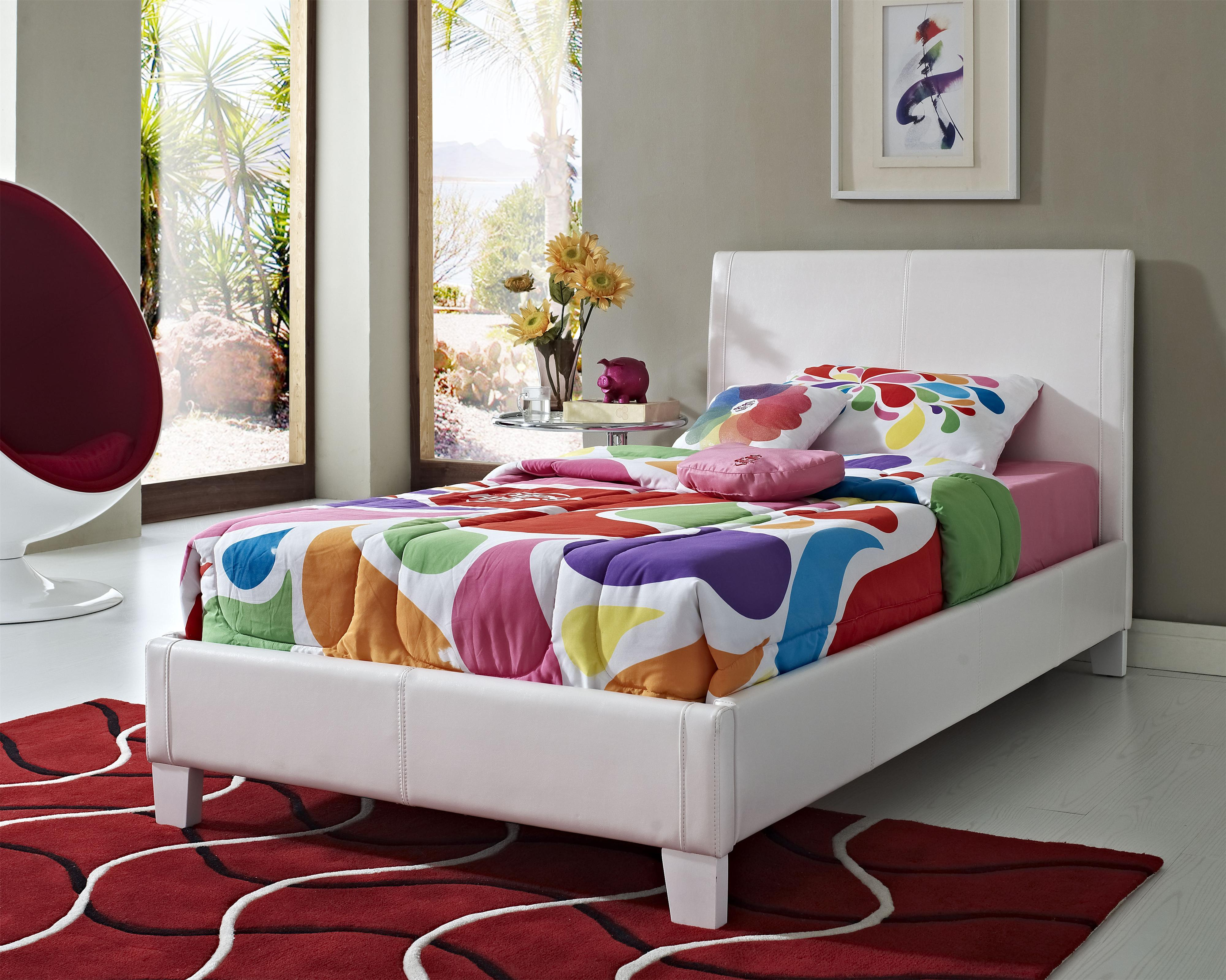 full size upholstered bed. Standard Furniture Fantasia Twin Upholstered Youth Trundle Bed | Birmingham, Huntsville, Hoover, Decatur, Alabaster, Full Size U
