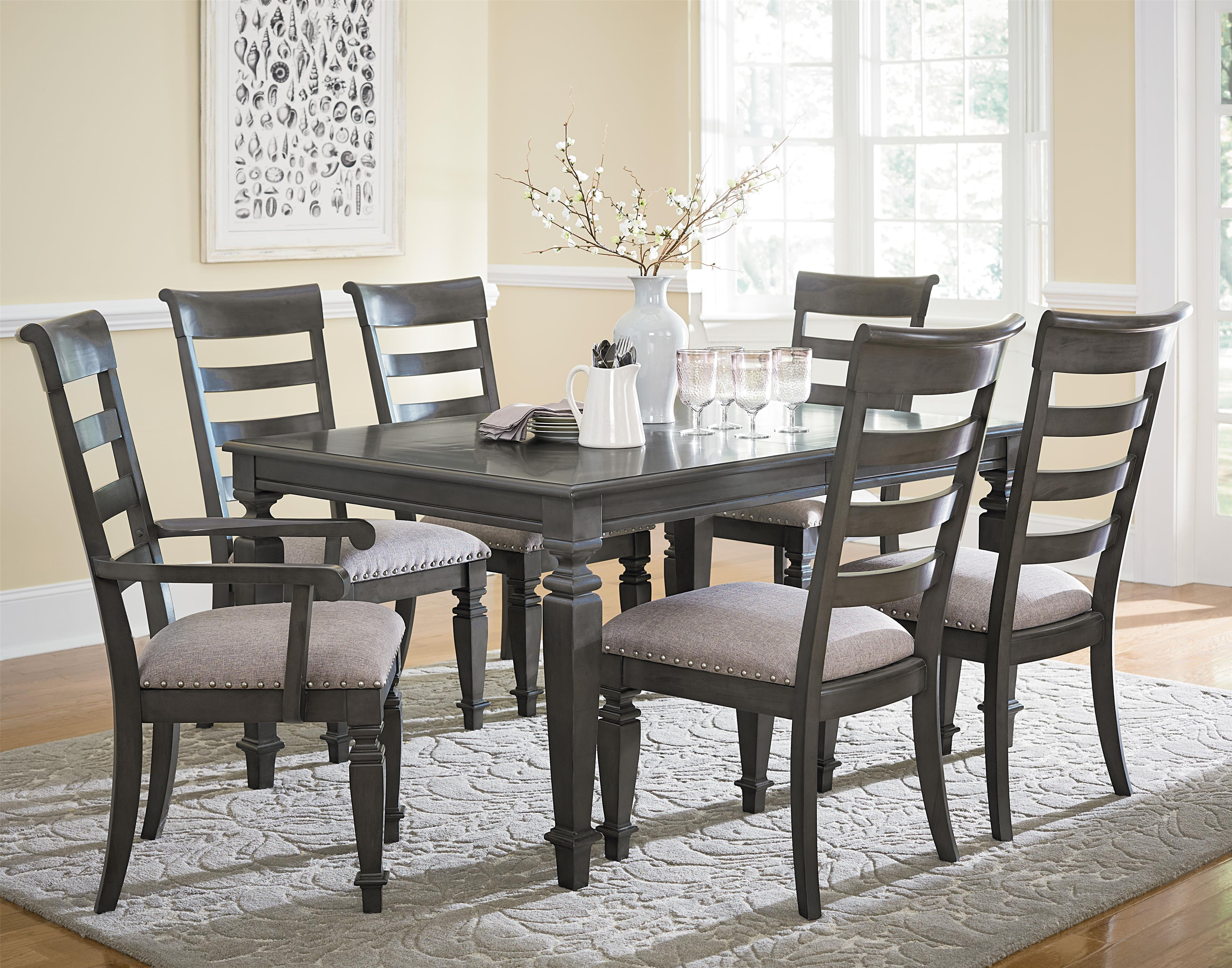 Standard Furniture Garrison Traditional Dining Table With Turned Legs